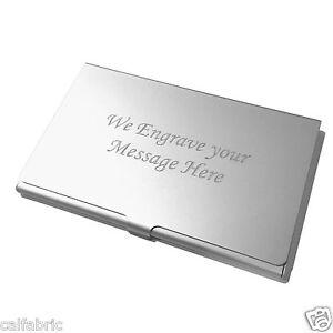 Custom engraved business card holder credit card holder ebay image is loading custom engraved business card holder credit card holder colourmoves
