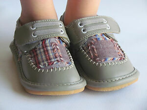 toddler shoes squeaky shoes boys gray w plaid dress
