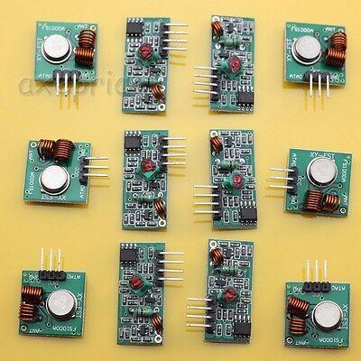 6 sets  433Mhz WL RF Transmitter + Receiver Module  Link Kit for Arduino/MCU/ARM
