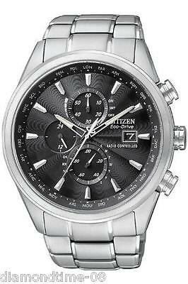 NEW CITIZEN  ECO-DRIVE RADIO CONTROLLED WORLD TIMER MEN'S WATCH AT8010-58E