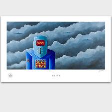 Vintage Tin Robot - Space Man - UFO - Roswell - Artwork Poster Print - PADLO