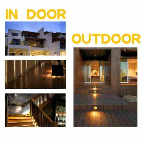 10xBodeneinbauleuchten LED Einbaustrahler Außen Terrasse Garten Beleuchtung Spot