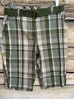 Kim Rogers Size 6 Womens Walking Shorts Plaid Beach Cruise Hiking