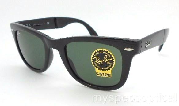 253762697f ... reduced ray ban rb4105 601 54mm g 15 lens black folding wayfarer  sunglasses c89dc 661ef