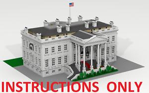 Lego Personalizado construcción de la Casa blancoa. Washington (Estados Unidos). sólo las instrucciones.