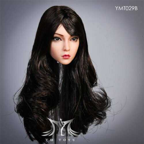 "YMTOYS 1//6 YMT029B Suntan Head Sculpt Carving Model F 12/"" Female Phicen Body Toy"