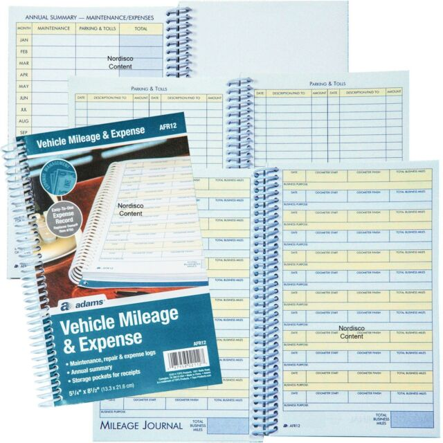 adams afr 12 vehicle mileage and expense log case 0f 24 books ebay