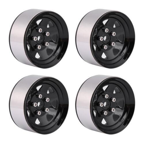 "4pcs Metal Beadlock Wheel 1.9/"" Rim Hubs for Traxxas HSP Redcat 1:10 Crawler Car"