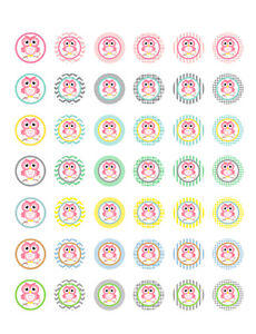 photo about Printable Bottlecap Images titled Information and facts regarding Owl Themed/ Its a Lady/ Kid Shower Printable Bottle Cap Photos ~ 42 Patterns