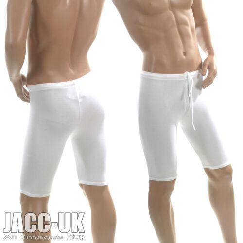 New Mens XS Boys White VIGA Lycra Cycle Gym Shorts Dance Running Sports RUN.204