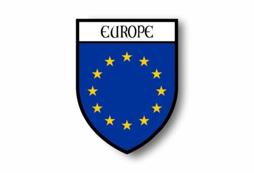 Stickers decal souvenir vinyl car shield flag crest europa UE hat europe