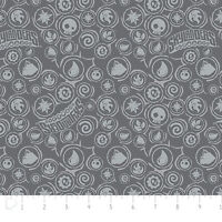 Camelot Skylanders Icons In Iron Grey 100% Cotton Fabric By The Yard