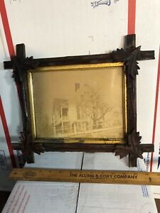 Vintage-Antique-Victorian-Walnut-Picture-Frame-Fits-7-1-8-by-9-1-8-Painting