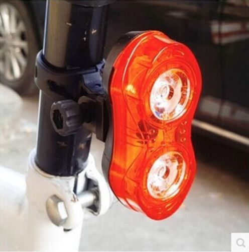 2x LED Bicycle Cycling Silicone Head Front Rear Wheel Safety Light Lamp Set EN