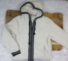 American Eagle women's size XL White Fuzzy Alpine Zip Up Hoodie Sweatshirt AC50