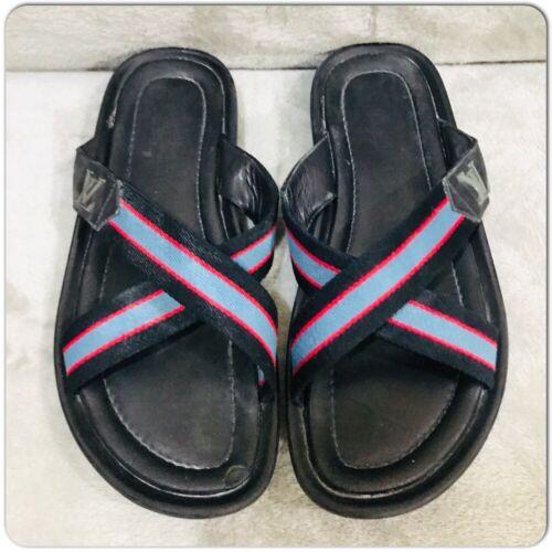Louis Vuitton leather Canvas Men's Sandals Size 7
