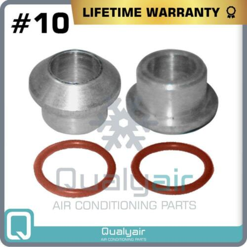 with Orings Male Insert Oring To Male Flare A//C Adapter Fitting Kit #10