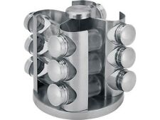 Renberg RB-4250 Stainless Steel Rotating Swivel Spice Rack & 12 Spice Jars