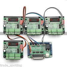 New 4 Axis TB6560 CNC Stepper Motor Driver Controller Board Kit,57 two-phase,3A