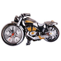 Us Creative Cool Motorcycle Alarm Clock Of Luxury Retro Style Desk Decoration