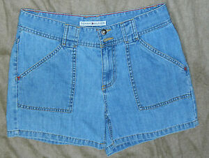 Womens Classic Tommy Hilfiger Brand Denim Casual Shorts