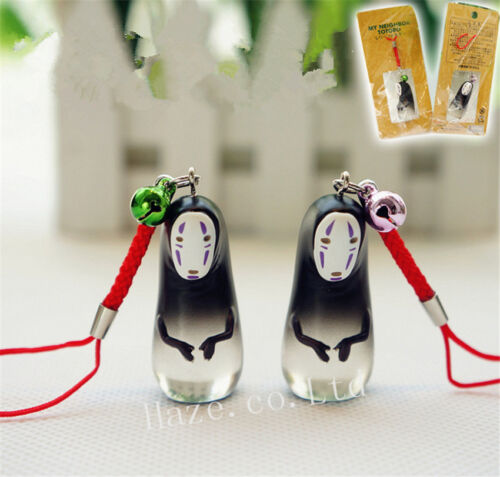 Anime Spirtied Away No Face Faceless Cute Resin Key Chain Bag Pendant