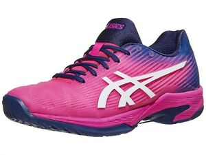 0af7b4a51cd7 NEW WOMEN S ASICS SOLUTION SPEED FF (700  PINK GLO   WHITE) TENNIS ...