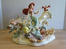 Little Mermaid Under The Sea Outdoor Garden Statue 2 Pc
