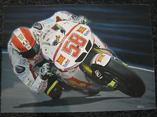 Litho Gresini Racing Honda RC212V 2011 #58 Marco Simoncelli (ITA) A. Wubbels