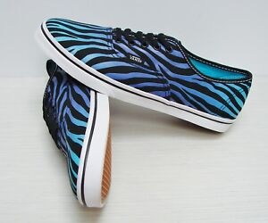 3bc8ae9276 Vans Authentic Lo Pro Zebra Fade Black Scuba Blue VN-0QES7Y9 Women s ...