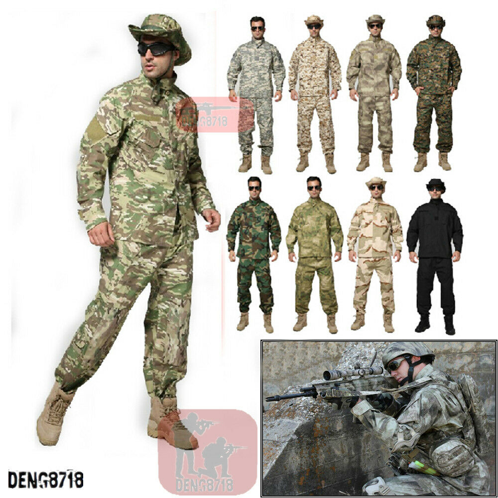 2018Mens Tactical  Army Combat Pants Military Camouflage Trouser  deals sale