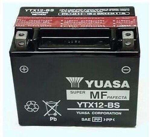 Batteria Moto Kawasak 750 ZR750C, D Zephyr Fi YUASA YTX12-BS 12v 10Ah