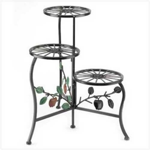 HOME GARDEN DECOR COUNTRY APPLE PLANT STAND IRON