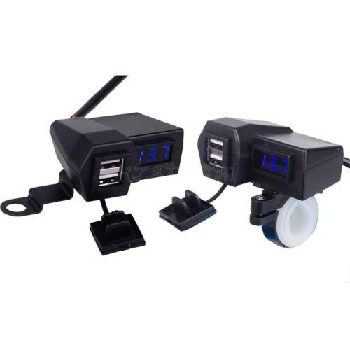 USB Charger LED Voltmeter Fit Kawasaki Vulcan Classic Mean Streak 1500 1600