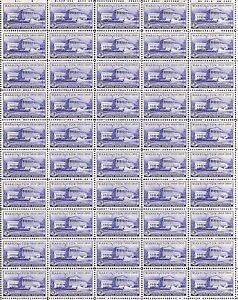 SUPREME COURT (1950) - Vintage Full Mint Sheet of 50 U.S. Postage Stamps