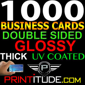 Personalized business cards 1000 full color 14pt thick double sided image is loading personalized business cards 1000 full color 14pt thick reheart Choice Image