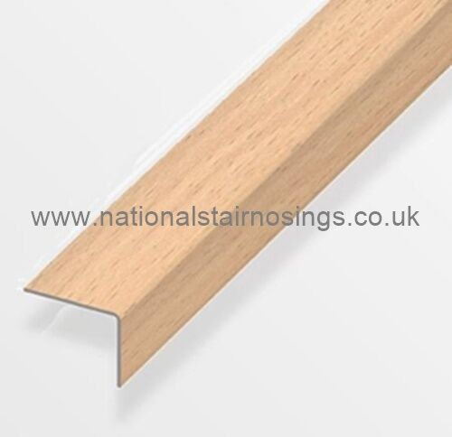 25x20mm Aluminium Beech Stair Nosing Trim Angle Edging Laminate Wood Flooring