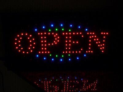 OPEN LED Schild Leuchte Display Leuchtreklame Reklame Leuchtschild Licht Werbung