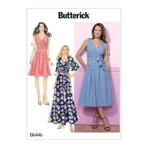 BUTTERICK-COUTURE-MOTIF-FEMMES-039-ROBE-amp-SASH-TAILLE-6-22-B6446