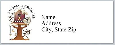 p 144 Personalized Address Labels Primitive Country Birdhouse Buy 3 get 1 free