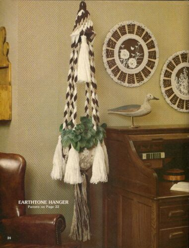 Craft Book #AC1 Accents Macrame Plant Hanger Waste Basket /& Picture Frame