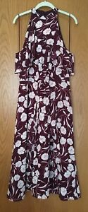LAUREN-CONRAD-Dress-sz-14-NWT-Runway-Collection-Dauphine-Ruffle-Midi-Floral-NEW