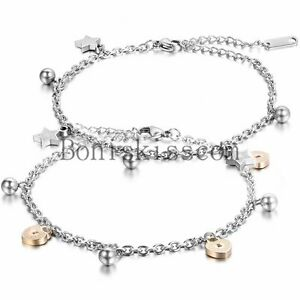 Love-Lock-and-Key-Charm-Stainless-Steel-Chain-Bridal-Wedding-Anklet-Foot-Jewelry
