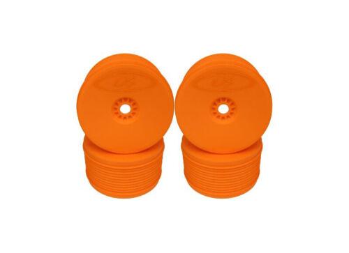 PT4-8O De Racing Speedline Plus 1//8 Truggy Wheels Orange 4 Pack