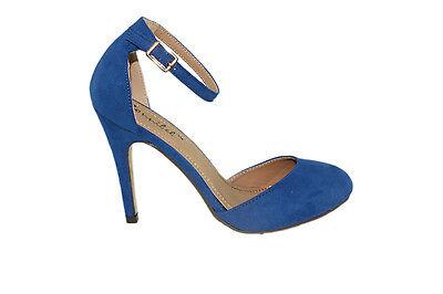 Kayleen Nanci-1 Faux Suede Adjustable Ankle Strap Platform High Heel Dress Pumps