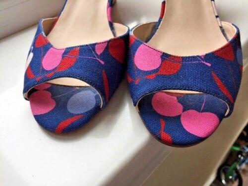 Cherry Sandali 39 Bn zeppa Open Taglia Textile Uk Lk ♡♡♡ Toe con Print Bennett 6 XZZfqSw