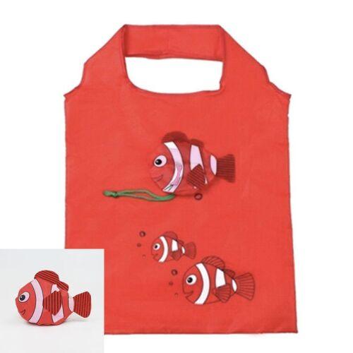 Sac Shopping Nylon Pliable Poisson Rouge