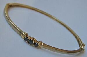 Armreif-Armspange-mit-Safiren-Saphir-in-8-Kt-333-Gold-bangle