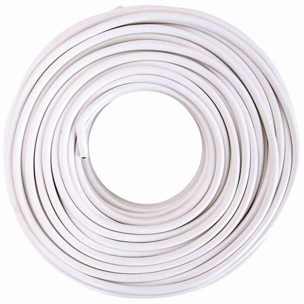Flexible Kunststoff-Schlauchleitung  H03VV-F 4G0.75mm² weiß 50m | Roman