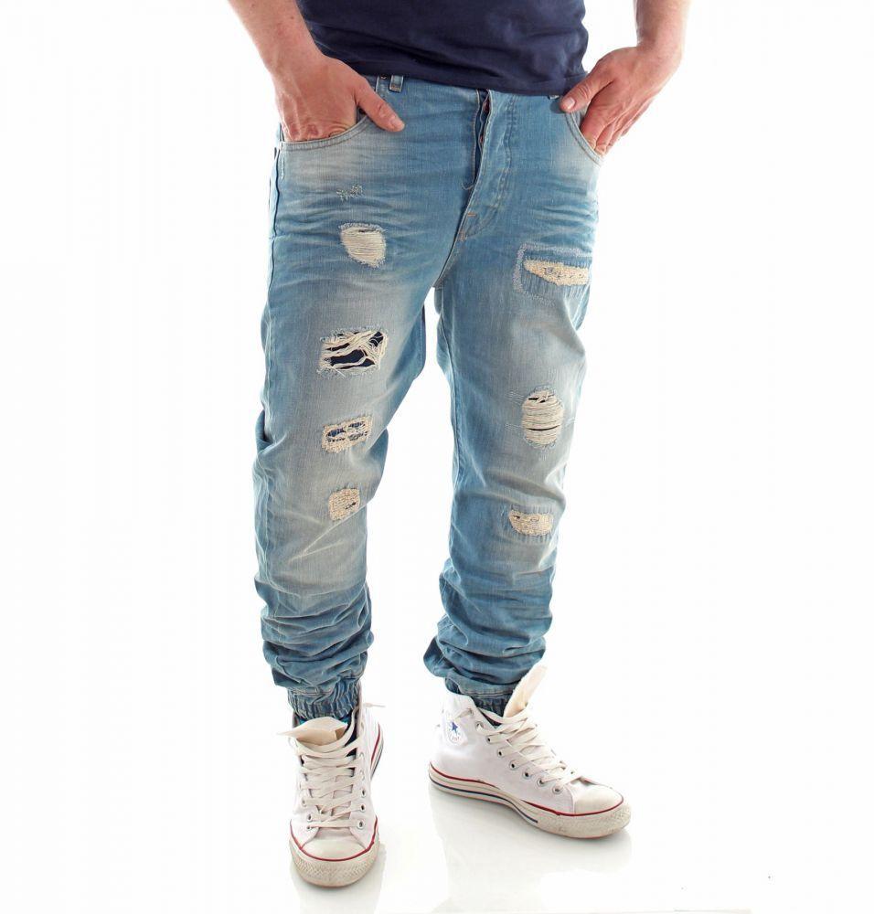 VSCT Clubwear Noah Cuffed Sunfaded Vintage Denim Jeans Hose